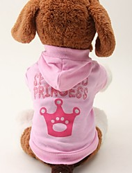 cheap -Cat / Dog Hoodie / Shirt / T-Shirt Pink Dog Clothes Summer Letter & Number / Tiaras & Crowns Wedding / Cosplay
