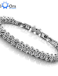 cheap -Chain Bracelet Vintage Party Work Casual Cubic Zirconia Bracelet Jewelry Screen Color For