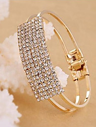 cheap -Women's White Tennis Alloy Bracelet Jewelry Gold / Silver For Party Daily