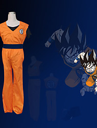 cheap -Inspired by Dragon Ball Son Goku Anime Cosplay Costumes Japanese Cosplay Suits Patchwork Short Sleeve Vest / Pants / Bracelet For Men's / T-shirt / Belt / Belt / T-shirt