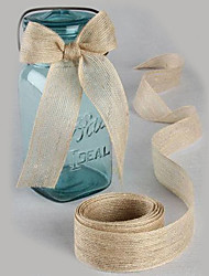 cheap -Solid Color Jute Wedding Ribbons - 5M Piece/Set Weaving Ribbon Gift Bow Decorate favor holder Decorate gift box Decorate wedding scene