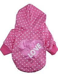 cheap -Cat Dog Shirt / T-Shirt Hoodie Dog Clothes Pink Costume Cotton Cosplay Wedding XS S M L