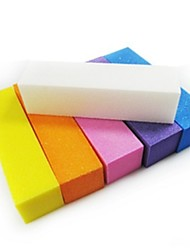 cheap -3pcs color randomly Sponge Nail Manicure Tools Mini Style Simple Nail Art Tool Buffer Blocks for Finger Nail Toe Nail