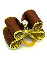cheap -Lovely Ribbon Style   Rhinestone Decorated Rubber Band Hair Bow for Pet Dogs