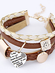 cheap -Stacking Stackable Ladies Charm Faux Leather Bracelet Jewelry For Party Daily Casual