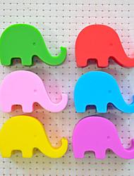Недорогие -Слон держатель в форме сотового телефона силикона (случайный цвет) 5.2 * 3.2 * 2 см