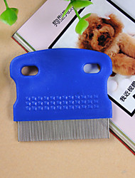 cheap -Grooming Shedding Tools Plastic Comb Pet Grooming Supplies Blue White Rose