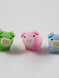 cheap -Lovely Pig Datechable Self Assemble Rubber Eraser Children Prizes Gift Assemble Toy