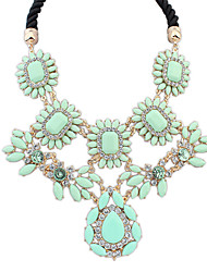 cheap -Women's Choker Necklace Ladies Luxury European Resin Alloy Pink Rainbow Light Green Necklace Jewelry For Daily