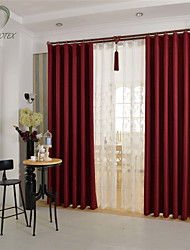 cheap -Country Curtains® One Panel Red Solid Blackout Curtain