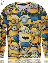 cheap -Men's Classic & Timeless Long Sleeve Hoodie - Multi Color Print Screen Color M