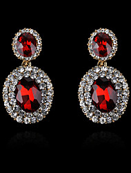 cheap -Women's Crystal Stud Earrings Drop Earrings Dangling Dangle European Fashion 18K Gold Plated Imitation Pearl Rhinestone Earrings Jewelry Navy Blue / Green / White For / Imitation Diamond
