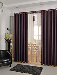 cheap -Country Curtains® One Panel Purple Solid Blackout Curtain