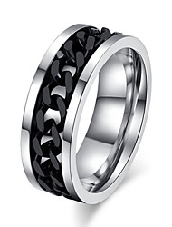 cheap -Men's Statement Ring Silver / Black Titanium Steel Wedding Party Jewelry Love