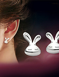 cheap -Women's Stud Earrings Ladies Sterling Silver Silver Earrings Jewelry White For Party Daily Casual