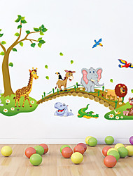 cheap -Decorative Wall Stickers - Animal Wall Stickers Animals / Cartoon Living Room / Bedroom / Bathroom / Washable / Removable