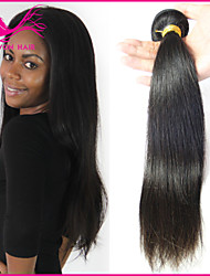 cheap -3 Bundles Brazilian Hair Straight Classic Virgin Human Hair Black Human Hair Weaves Human Hair Extensions / 10A