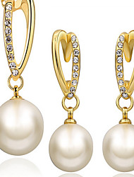 cheap -Jewelry Set Vintage Party Work Fashion Pearl 18K Gold Earrings Jewelry Gold For Party Special Occasion Anniversary Birthday Gift