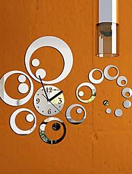 Недорогие -Модные съемные часы-зеркало в стиле diy art на стену для домашнего декора (серебро)