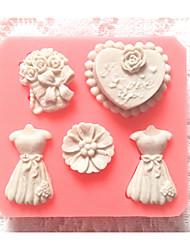 Недорогие -1шт пластик Торты Формы для пирожных Инструменты для выпечки