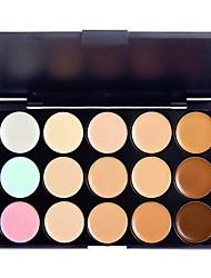 cheap -15 Colors Powders Concealer / Contour Bronzers 1 pcs Long Lasting / Natural / Brightening Eye / Nose / Face Makeup Cosmetic