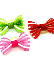 cheap -Elegant Ribbon Style  Rubber Band Hair Bow for Pet Dogs  (Random Color)