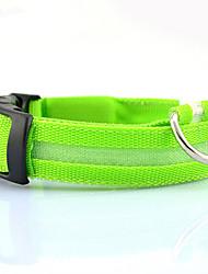 cheap -Cat Dog Collar LED Lights Nylon Rainbow