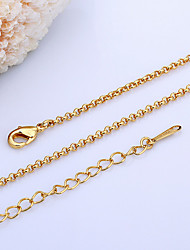 cheap -Women's Chain Necklace Ladies 18K Gold Plated Pearl Yellow Gold White Gold Necklace Jewelry For