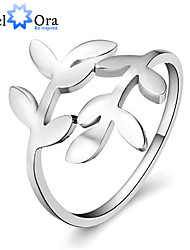 cheap -Women's Band Ring Silver Sterling Silver Fashion Party Jewelry Leaf