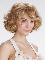 cheap -Synthetic Wig Curly Layered Haircut Wig Blonde Short Blonde Synthetic Hair Women's Natural Hairline Blonde