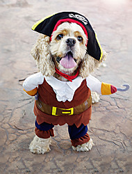 cheap -Cat Dog Hoodie Bandanas & Hats Dog Clothes Coffee Costume Terylene Cosplay S M L