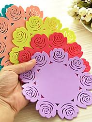 billige -steg mønster silikone kop coastere (tilfældig farve) 20 * 20 * 1 cm