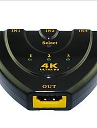 cheap -YONG WEI® 4 Port 3-in 1-out 4K×2K Ultra HD HDMI V1.4 3D Switcher