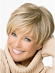 cheap -Synthetic Wig Straight Straight Asymmetrical Wig Blonde Short Brown Synthetic Hair Women's Natural Hairline Blonde