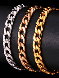 cheap -Bracelet Cuban Vintage Party Work Casual Link / Chain Rose Gold Bracelet Jewelry Gold / Silver / Red For Special Occasion Birthday Gift Daily / Rose Gold Plated