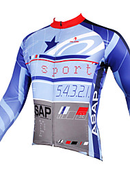 cheap -ILPALADINO Men's Long Sleeve Cycling Jersey Sky Blue+White Bike Jersey Top Breathable Quick Dry Ultraviolet Resistant Sports Winter Polyester 100% Polyester Terylene Clothing Apparel / Stretchy