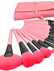 cheap -Professional Makeup Brushes Makeup Brush Set 24pcs Travel Full Coverage Goat Hair / Synthetic Hair / Artificial Fibre Brush Makeup Brushes for Makeup Brush Set / Goat Hair Brush