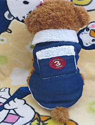 cheap -Dog Shirt / T-Shirt Dog Clothes Jeans White / Blue Terylene Cotton Mixed Material Costume For Winter