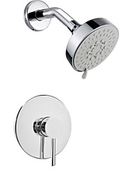 cheap -Shower Faucet - Contemporary Chrome Wall Mounted Brass Valve Bath Shower Mixer Taps / Single Handle Two Holes
