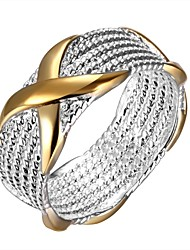 cheap -Women's Unisex Band Ring Statement Ring Ring Silver Sterling Silver Circle Geometric European Daily Jewelry