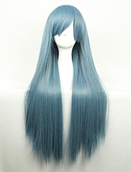 cheap -Cosplay Costume Wig Synthetic Wig Straight Straight Asymmetrical Wig Long Green Synthetic Hair Women's Natural Hairline Green