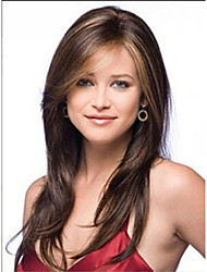 cheap -Synthetic Wig Straight Style Wig Chestnut Brown Synthetic Hair Women's Wig Long StrongBeauty