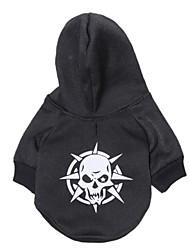 cheap -Cat Dog Coat Hoodie Winter Dog Clothes Black Costume Polar Fleece Cotton Skull Cosplay XS S M L