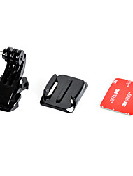 cheap -j hook buckle with mount surface and 3m sticker for gopro hero 4 3 3 2 1 sj4000 sj5000 sj6000