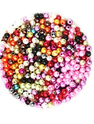 abordables -Bijoux bricolage 2000 pcs Perles Plastique Rond Forme Ronde Perle 0.4 cm DIY Colliers Tendance Bracelet