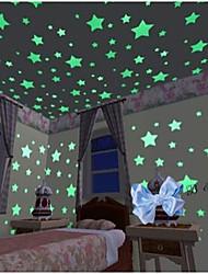 Недорогие -Геометрия Наклейки Светящиеся наклейки Декоративные наклейки на стены, Винил Украшение дома Наклейка на стену Стена