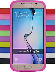 cheap -Case For Samsung Galaxy S6 Shockproof Back Cover Solid Colored Silicone