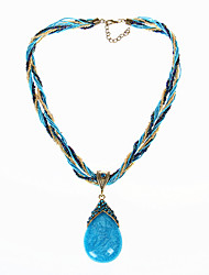 cheap -Vintage/Casual Resin  Bohemian Style Water Drop Pendant Necklace