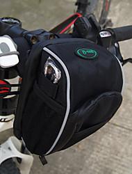 cheap -Rain-Proof/Waterproof Zipper/Dust Proof/Shockproof Bike Handlebar Bag Cycling 0.5 L Black Oxford/PVC