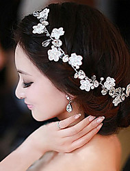 cheap -Chiffon / Imitation Pearl / Lace Headbands / Flowers / Wreaths with 1 Wedding / Special Occasion / Casual Headpiece